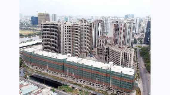 An incomplete real estate project in Nha Be District. (Photo: SGGP)