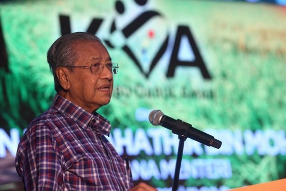 Prime Minister Mahathir Mohamad speaks during a press conference on May 25 (Source: Bernama)