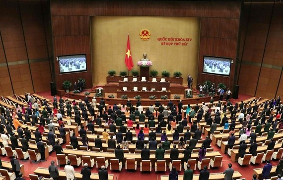 The seventh session of the 14th National Assembly (NA) wraps up in Hanoi on June 14, completing all items on its 20-day working agenda. (Photo: VNA)