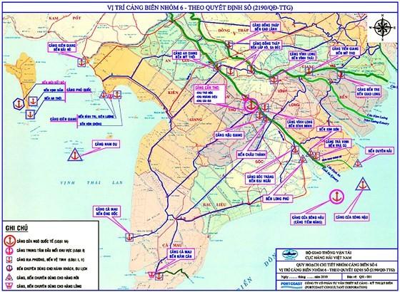 Zoning plans for Port Network No. 6 - Mekong Delta. (Photo: SGGP)