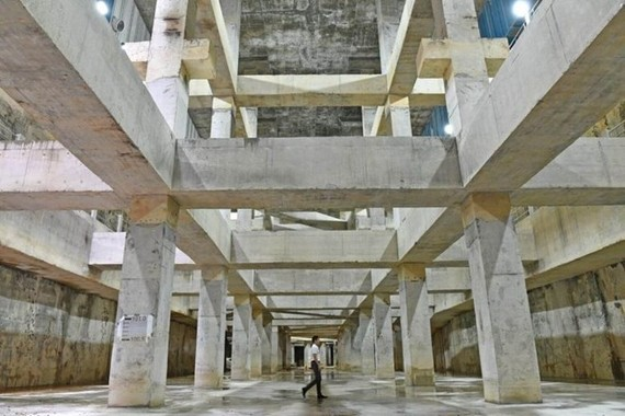 Stamford Detention Tank was constructed as part of the 1.8 billion SGD effort to improve Singapore's drainage system and boost its flood resilience. (Source:straitstimes.com0