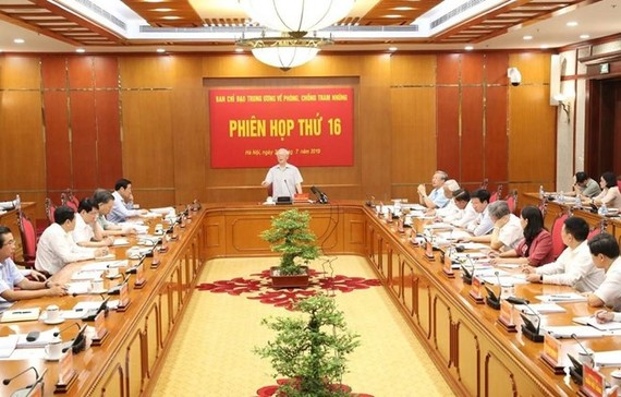 Party General Secretary and State President Nguyen Phu Trong speaks at the meeting. (Photo: VNA)