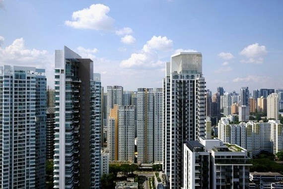 General view of apartment blocks consisting of private and public housing, in Singapore, September 27, 2018 (Source: Reuters)