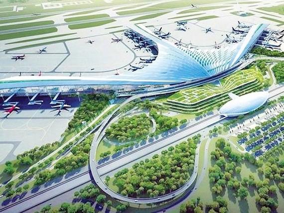 An artist's impression of Long Thanh airport