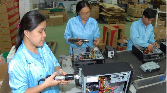 Computers--the most exported item from HCMC to Australia (Photo: SGGP)
