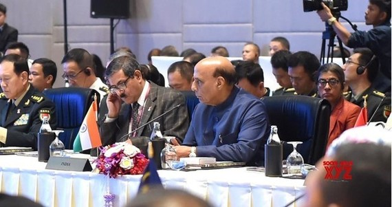 Indian Defence Minister Rajnath Singh at the ADMM Plus in Bangkok (Photo: VNA)