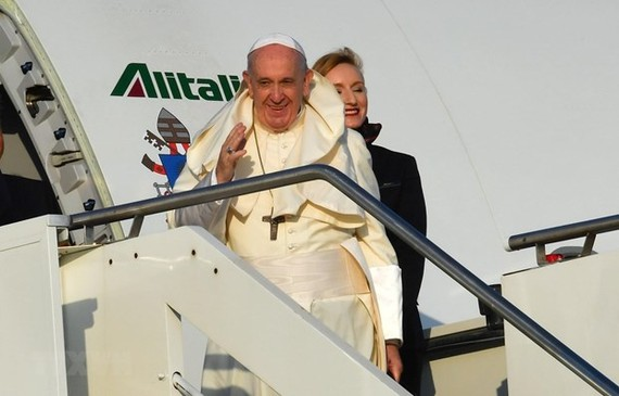 Pope Francis to Thailand visits Thailand on November 20-23. (Photo: AFP/VNA)