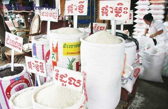 Cambodia exported 398,586 tonnes of the food grain in the first nine months of 2019, up 2.3 percent year on year (Photo: The Phnom Penh Post)