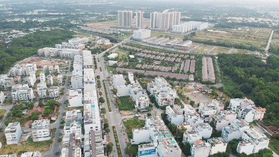 A new residential area in Binh Chanh district, Ho Chi Minh City