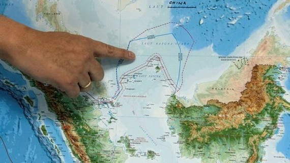 A map showing the northern waters of the Natuna Islands (Photo: Reuters)