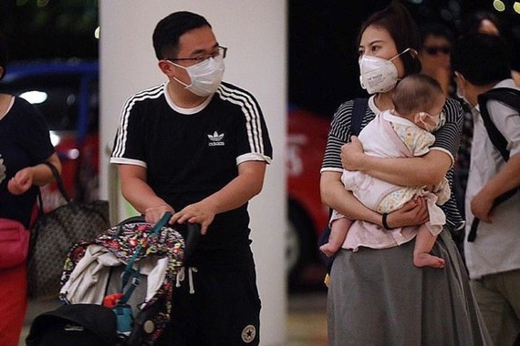 Guests at Shangri-La's Rasa Sentosa Resort & Spa. A person from China who is the first to test positive for the Wuhan virus in Singapore had stayed at the resort, said the Health Ministry. (Source: Strait Times)