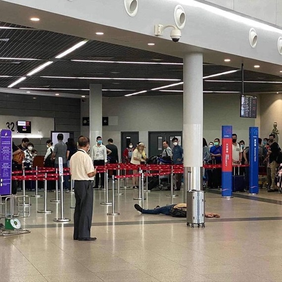 Cambodia's Ministry of Health denies posts on social media that the fainting of a foreigner at the Phnom Penh International Airport was caused by 2019-nCoV. (Source: https://cne.wtf/)