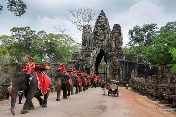 At Angkor Archeological Park (Photo: Cambodia tours)