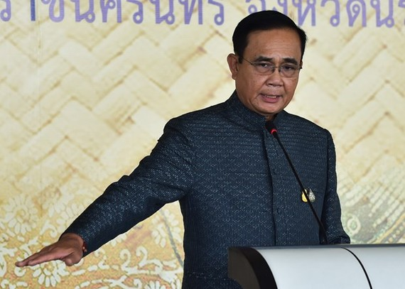Thai Prime Minister Prayut Chan-o-cha speaks at at an event in Narathiwat province on January 21 (Photo: AFP/VNA)