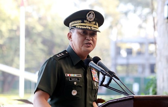 Chief of Staff of the Armed Forces of the Philippines Felimon Santos Jr (Photo: AFP)