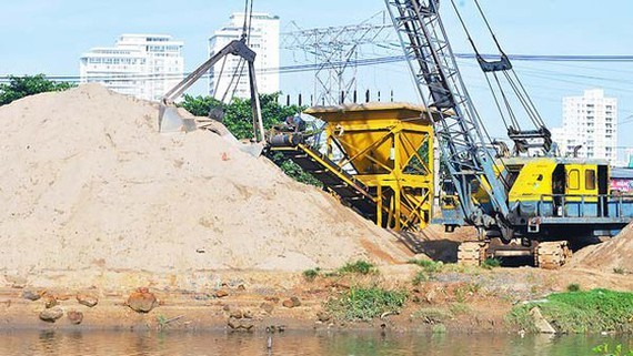 Sand is in high demand to serve construction works all over Vietnam