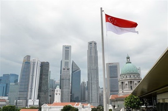 Singapore's economy contracted 13.2 percent year on year in the second quarter of 2020 (Photo: AFP/VNA)