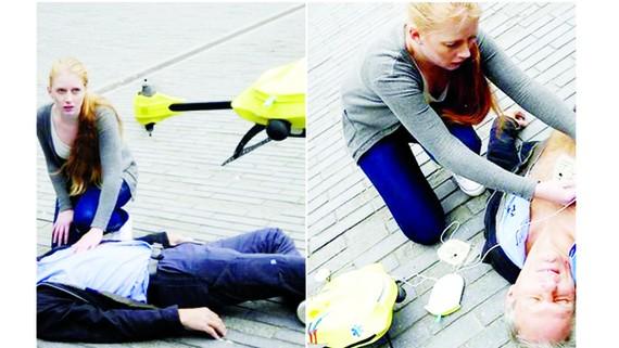 Dùng drone cấp cứu nạn nhân đau tim