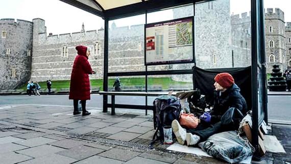 Người vô gia cư trên đường phố Anh