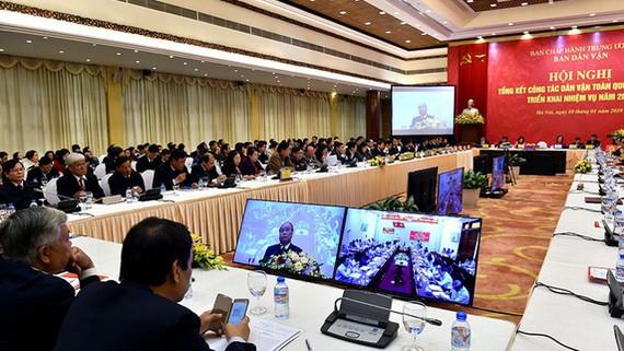 Hội nghị tổng kết công tác dân vận toàn quốc năm 2017. Ảnh: VGP/Nhật Bắc
