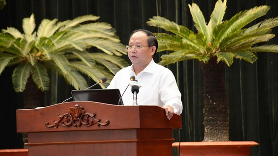 Đồng chí Tất Thành Cang phát biểu  chỉ đạo tại hội nghị