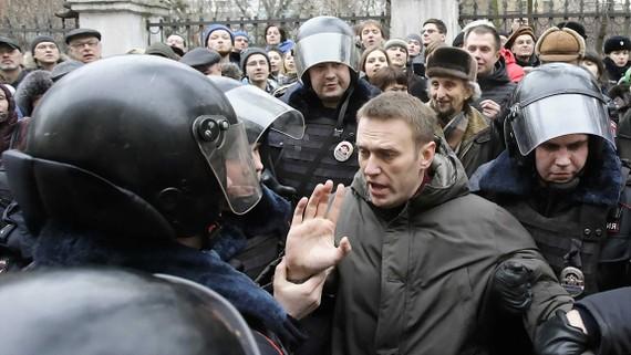 Cảnh sát Nga bắt giữ lãnh đạo lực lượng đối lập Alekxei Navalny