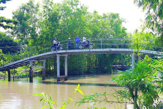 Cầu Xẻo Môn tại xã Phụng Hiệp, huyện Phụng Hiệp, tỉnh Hậu Giang hiện nay
