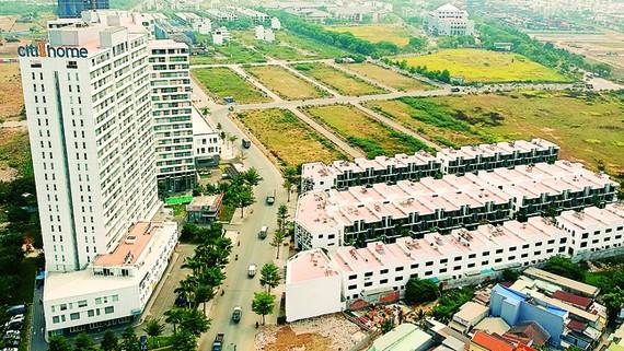 Khu dân cư mới gần bên cảng Cát Lái                            Ảnh: CAO THĂNG