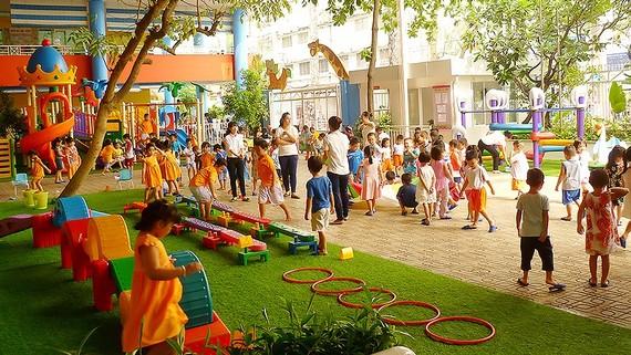 """Trường Mầm non Vàng Anh (quận 5, TPHCM) -  điển hình về """"Xây dựng môi trường lấy trẻ làm trung tâm"""""""