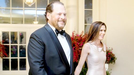 Tỷ phú Marc Benioff cùng vợ