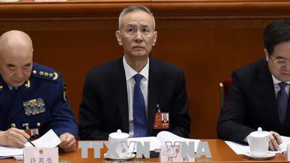 Ông Lưu Hạc (giữa) Phó Thủ tướng Trung Quốc. Ảnh: AFP/TTXVN