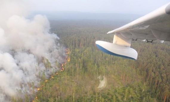 Đám cháy rừng đang ngày càng lan rộng ở vùng Siberia. Ảnh: AP