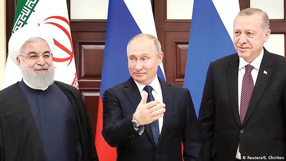 Tổng thống Iran Rouhani, Tổng thống Nga Putin và Tổng thống Thổ Nhĩ Kỳ Erdogan