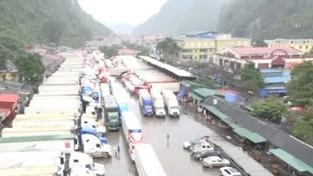 500 xe trái cây ùn ứ tại Lạng Sơn