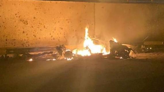Sân bay Baghdad ở Iraq bị Mỹ không kích. Ảnh: ANI News