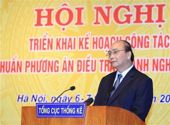 Thủ tướng Nguyễn Xuân Phúc phát biểu chỉ đạo hội nghị. Ảnh: TTXVN