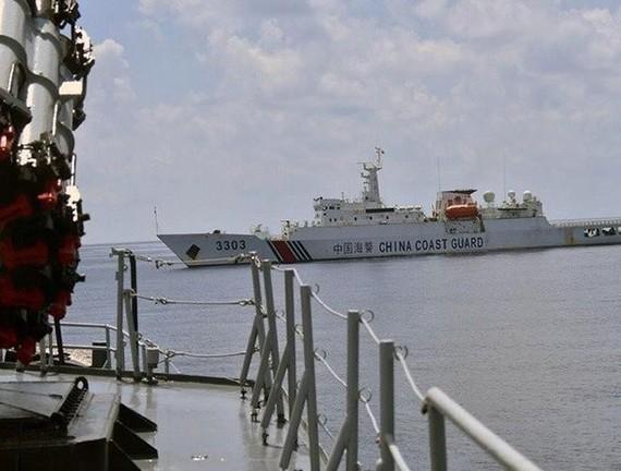 Tàu hải cảnh của Trung Quốc xuất hiện tại Vùng đặc quyền kinh tế của Indonesia ngoài khơi quần đảo Natuna