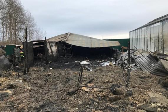 Hiện trường vụ cháy tại Nga. Ảnh: gazeta.ru