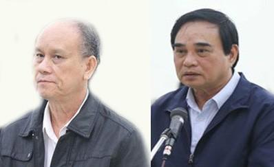 Từ trái sang: Bị cáo Trần Văn Minh và Văn Hữu Chiến