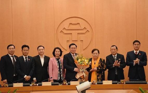 Bí thư Thành ủy Hà Nội Vương Đình Huệ được bầu làm Trưởng đoàn ĐBQH Hà Nội. Ảnh: VGP.