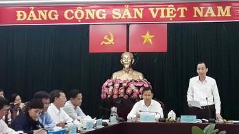 Phó Chủ tịch Thường trực UBND TPHCM Lê Thanh Liêm phát biểu tại buổi làm việc