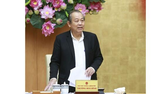 Phó Thủ tướng Thường trực Trương Hòa Bình phát biểu tại cuộc họp. Ảnh: VGP
