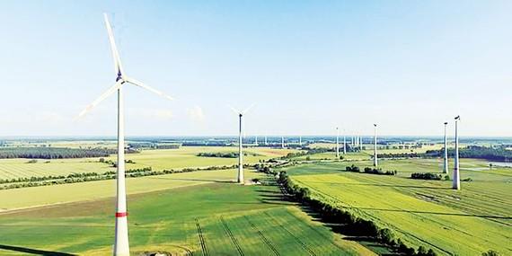 Một trang trại điện gió tại Đức