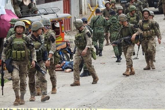 Binh sĩ Philippines. Ảnh: AFP/TTXVN