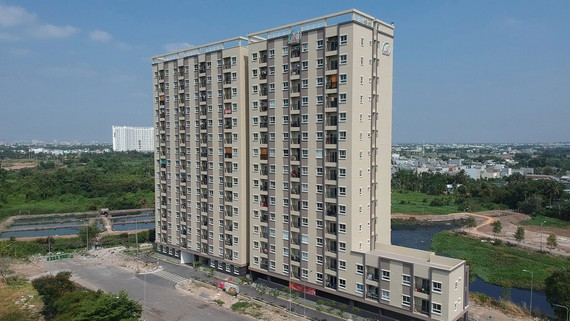 Dự án căn hộ tại phường Bình Chiểu (quận Thủ Đức, TPHCM)  do Công ty cổ phần Phát triển nhà Thủ Đức làm chủ đầu tư. Ảnh: CAO THĂNG