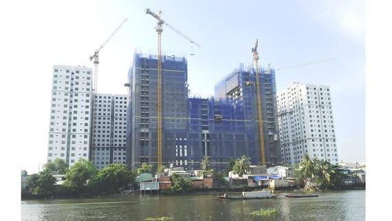 Dự án nhà ở xã hội tại 2225 Phạm Thế Hiển, quận 8, TPHCM. Ảnh: CAO THĂNG
