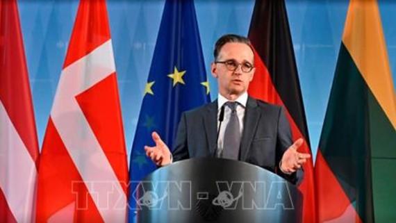 Ngoại trưởng Đức Heiko Maas phát biểu tại cuộc họp trực tuyến với các nước vùng Baltic. Ảnh AFP/TTXVN