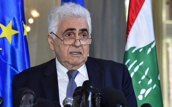 Ngoại trưởng Lebanon Nassif Hitti. Ảnh: The Times of Israel