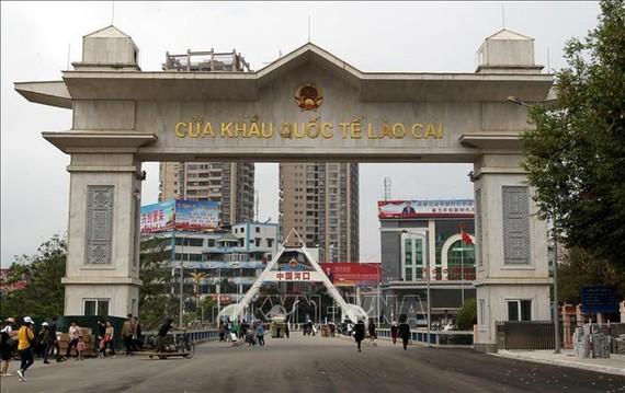 Cửa khẩu quốc tế Lào Cai (tỉnh Lào Cai). Ảnh: TTXVN