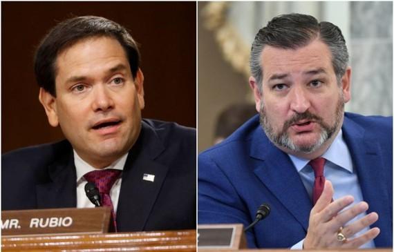 Thượng nghị sỹ Ted Cruz và Marco Rubio nằm trong số 11 quan chức Mỹ bị Trung Quốc áp đặt lệnh trừng phạt. Ảnh: Reuters